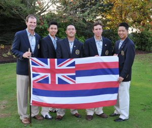 """Team Hawaii w Flag"" by OregonGolfAssn is licensed under CC BY-NC-ND"