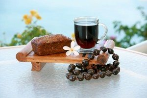 coffee and banana bread on maui hawaii