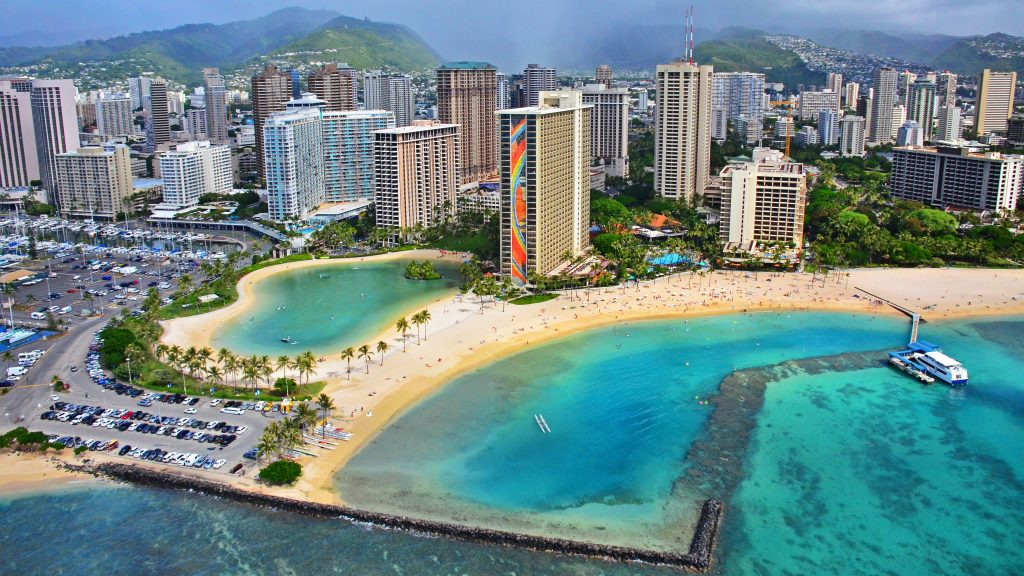 """Rainbow Tower Waikiki"" by Edmund Garman is licensed under CC BY"